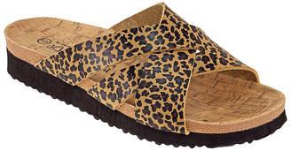 R&K Rk Collection RK Collection Women's Sandals LEOPARD - Brown Leopard Cross-Strap Rita Sandal - Women