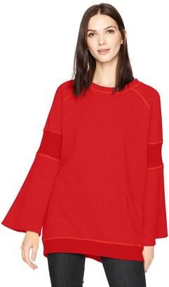 Kenneth Cole New York Kenneth Cole Women's Rib Detail Sweatshirt