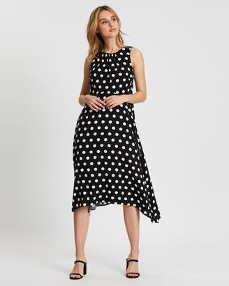 Wallis Spot Gathered Bardot Dress