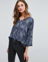 Only Ace Oversize Wrap Blouse