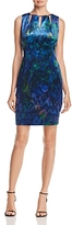 T Tahari Charma Floral Velvet Dress