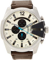 Diesel DZ4464 Silver & Olive Mega Chief Chronograph Watch