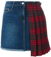 SteveJ & YoniP Steve J & Yoni P pleated check detailed skirt
