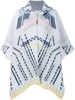 Peter Pilotto geometric hooded cape