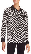 Vince Camuto Striped Button-Front Shirt