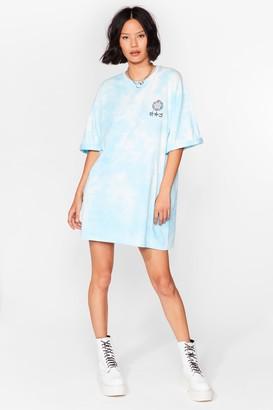 Nasty Gal Womens Divine Intervention Graphic Tie Dye Dress - White