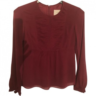 Burberry Red Silk Top for Women