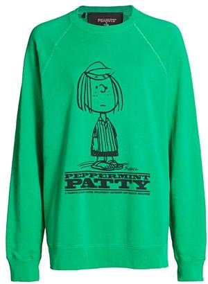 Marc Jacobs Peppermint Patty Distressed Sweatshirt