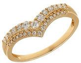 Lord & Taylor 14K Yellow Gold Diamond Chevron Ring