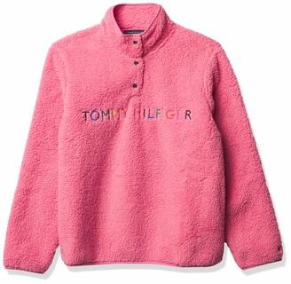 Tommy Hilfiger womens Women's Sherpa Jacket PEONY Large