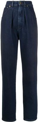 Alberta Ferretti High Rise Tapered Jeans