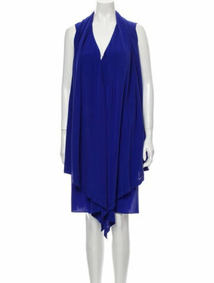 Derek Lam Silk Knee-Length Dress w/ Tags Blue