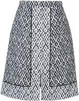 Oscar de la Renta Ikat print A-line skirt - women - Cotton/Acrylic/Polyester/other fibers - 4