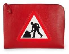 Anya Hindmarch Patch Leather Document Case