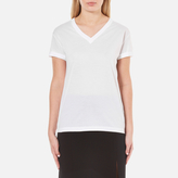 Alexander Wang Women's Superfine Jersey Short Sleeve V Neck TShirt - White