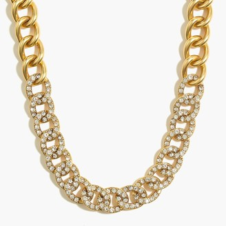 J.Crew PavA crystal-link statement necklace