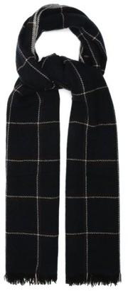 Isabel Marant Dash Tartan Wool-blend Scarf - Navy