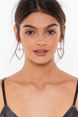 Nasty Gal Womens Don't Make My Heart Drop Diamante Earrings - grey - One Size