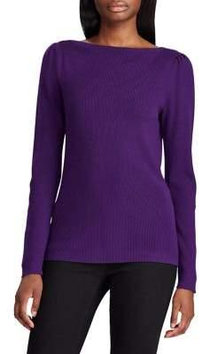 Lauren Ralph Lauren Puff-Sleeve Boatneck Sweater