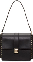 Valentino Black Rockstud Boxy Trunk Bag