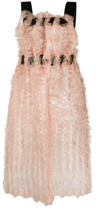 Comme des Garcons tulle embellished tunic