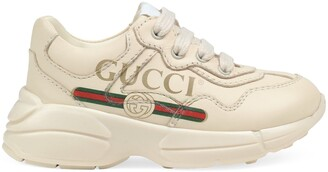 Gucci Toddler Rhyton logo leather sneaker