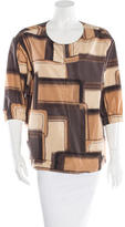 Marni Abstract Print Short Sleeve Top