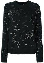 Diesel mini metallic prints sweatshirt