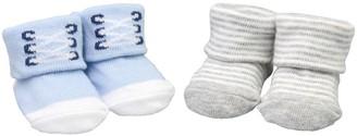 Fruit of the Loom Baby Boy 2-Pack Keepsake Sneaker Bootie Socks