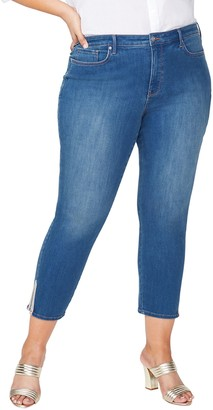 NYDJ Ami Skinny Ankle Jeans with Multi Tape Details