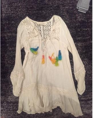 Jens Pirate Booty Ecru Cotton Dress for Women