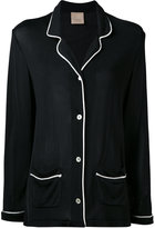 Laneus contrast oversized jacket - women - Viscose/Acetate - 40