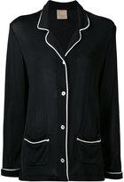 Laneus contrast oversized jacket