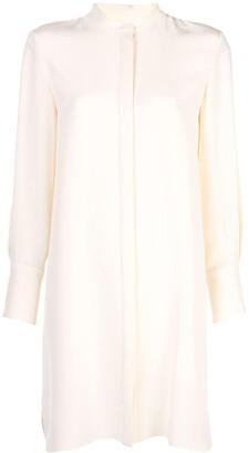 PARTOW Mandarin collar shirt dress