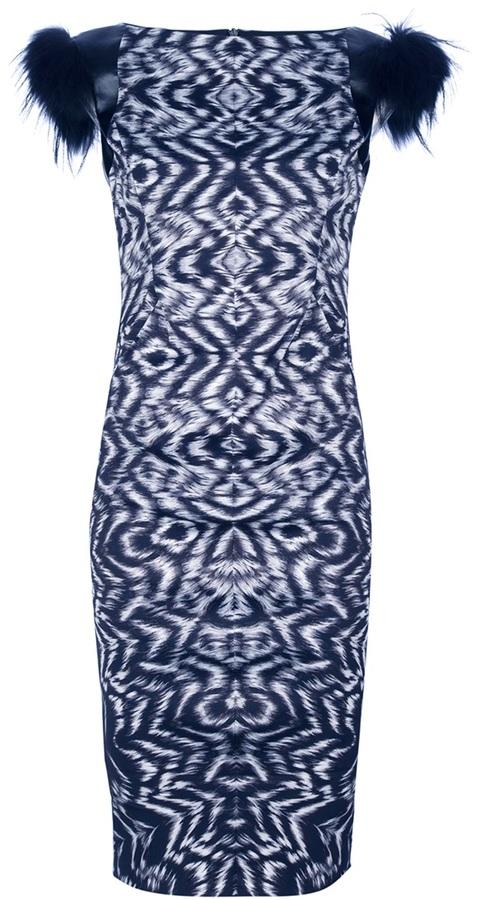 Sportmax aztec fitted midi dress