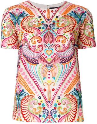 Manish Arora Patterned Embroidered Top
