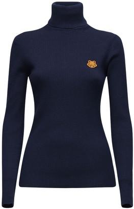 Kenzo Logo Wool Turtleneck Sweater