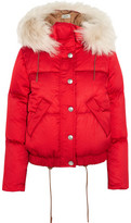Coach Shearling-Trimmed Padded Shell Hooded Coat