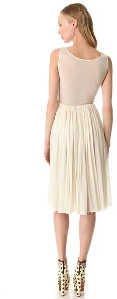 Rochas Sleeveless Jersey Dress