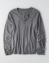 American Eagle AEO Long Sleeve Henley T-Shirt