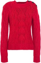 BA&SH Pointelle-knit Cotton, Mohair Wool And Silk-blend Sweater