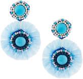 Nakamol Beaded Fringe Double Circle Drop Earrings