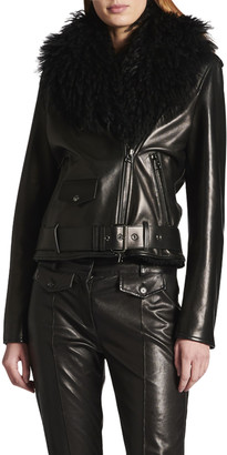 Tom Ford Napa Leather Two-Piece Jacket W/ Detachable Shearling Vest