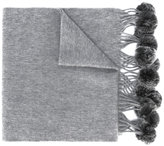 N.Peal fur bobble woven scarf - women - Rabbit Fur/Cashmere - One Size