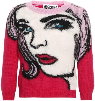 Moschino Intarsia Mohair-blend Sweater