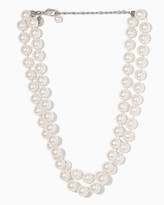 "Charming charlie 16"" Double Luxe Pearl Necklace"