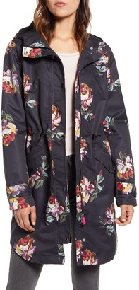Joules Loxley Floral Print Hooded Jacket