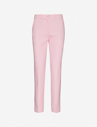 Benetton Straight-leg mid-rise cotton trousers