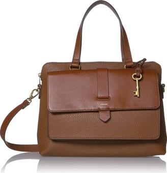 Fossil Women's Kinley Leather Satchel Handbag