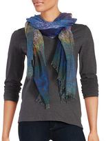 Lord & Taylor Printed Knit Scarf